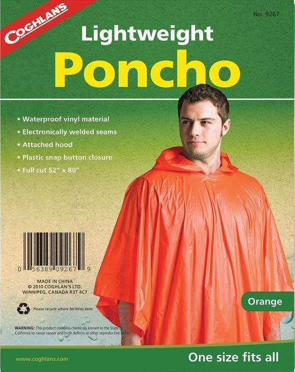 Coghlans Yağmurluk Panço (Turuncu)