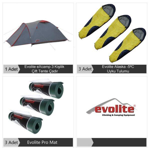 Evolite ExPRO 3 Kişilik Kamp Seti