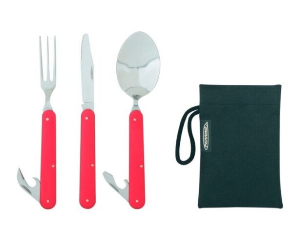 Ferrino Clip Çelik Çatal-Bıçak-Kaşık Seti