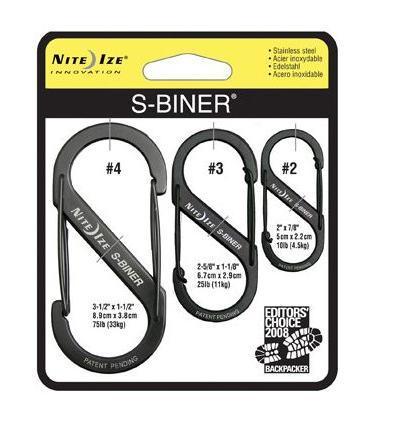 Nite-ize S-Biner 3Pack-Black