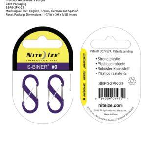Nite-ize S-Biner Plastik Size 0 Purple