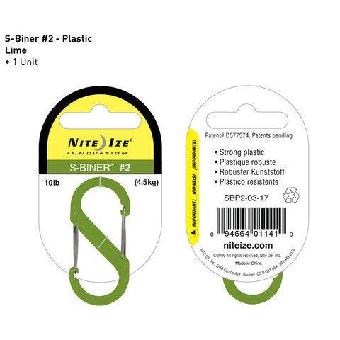 Nite-ize S-Biner Plastik Size 2 Lime