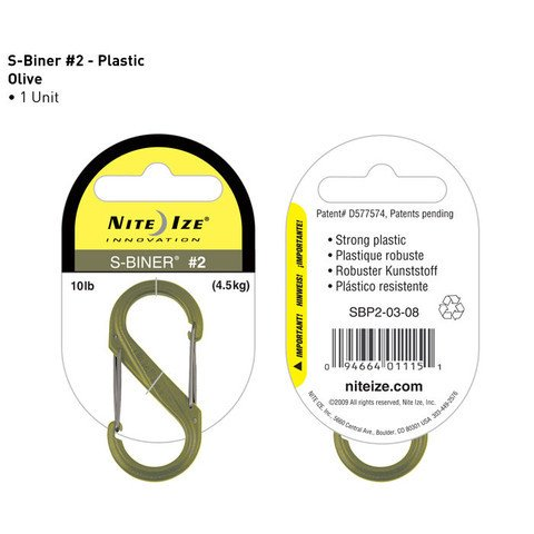 Nite-ize S-Biner Plastik Size  2 Olive