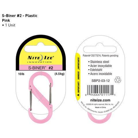 Nite-ize S-Biner Plastik Size 2 Pink