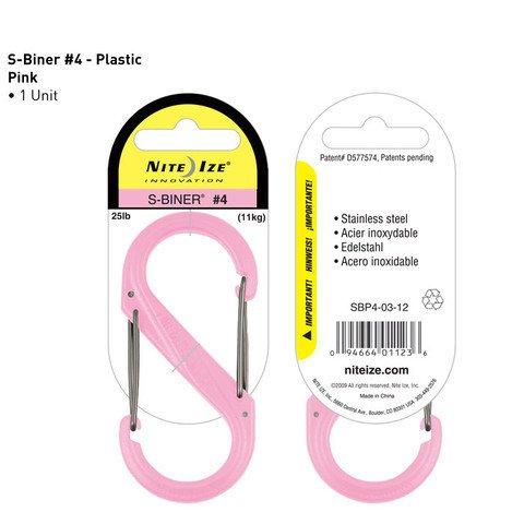 Nite-ize S-Biner Plastik Size 4 Pink