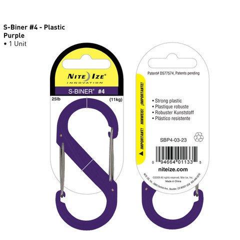 Nite-ize S-Biner Plastik Size 4 Purple