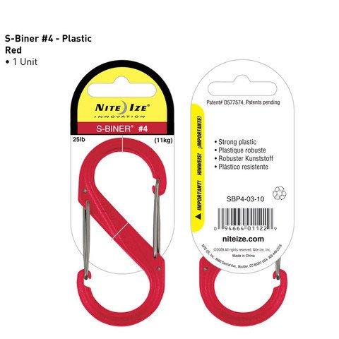 Nite-ize S-Biner Plastik Size 4 Red